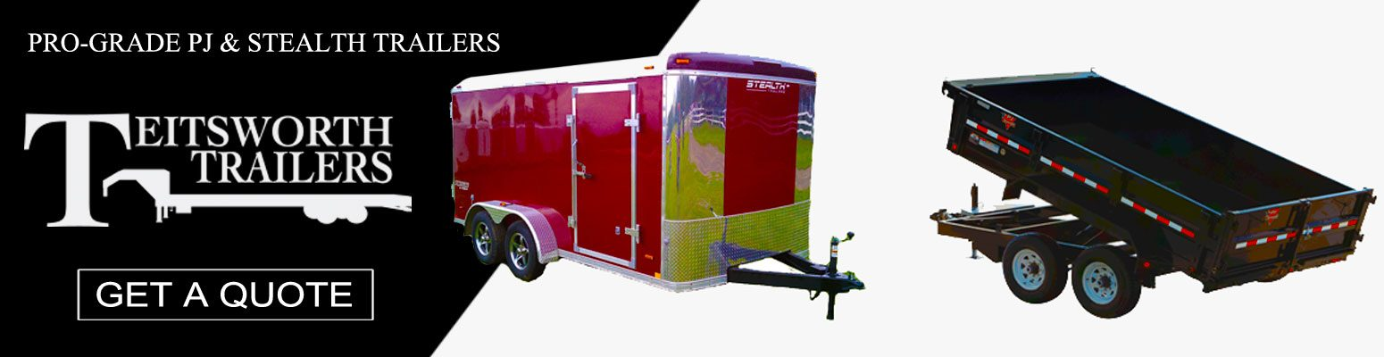 Teitsworth Trailers high quality, professional grade PJ and Stealth trailers